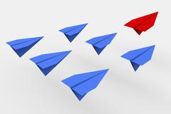 Leadership concept. 3d planes Stock Illustration