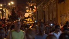 People Following Traditional 2 de Julho Procession in Salvador, Bahia, Brazil Stock Footage