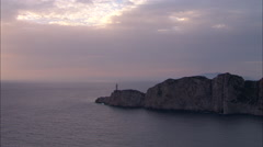 AERIAL Italy-Coastline At Sunset Stock Footage
