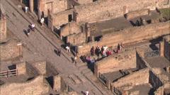 AERIAL Italy-Pompeii Stock Footage