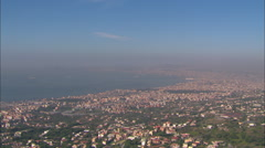 AERIAL Italy-Vesuvius From The West Stock Footage