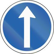 Straight Ahead in Iceland - stock illustration