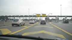 Travel on the motorway for an extra charge. Telepass gate. Stock Footage