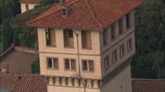 AERIAL Italy-Villa Medici La Petraia Stock Footage
