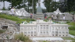 Miniatures of Italian cities and palaces in the park Leolandia Stock Footage