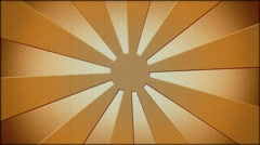 Brown sunburst in vintage style Stock Footage