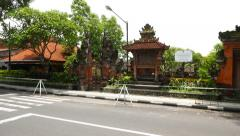 Balinese temple, Pura Agung, Desa Adat Legian, parallax shot Stock Footage