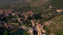 AERIAL Italy-Tivoli Falls Stock Footage