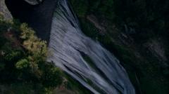 AERIAL Italy-Flight Revealing Tivoli Falls Stock Footage
