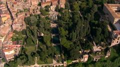 AERIAL Italy-Villa D'Este Stock Footage