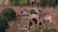AERIAL Italy-Hadrian's Villa Stock Footage