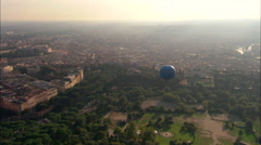 AERIAL Italy-Tethered Balloon In Villa Borghese Garden - stock footage
