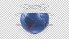 'Holographic' CG model of a globe - stock footage