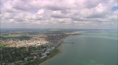 AERIAL United Kingdom-Eastbourne Stock Footage