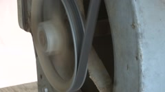 Belt and pulley on fan motor with sound Stock Footage