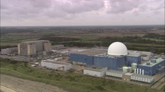 AERIAL United Kingdom-Sizewell B Nuclear Power Station - stock footage