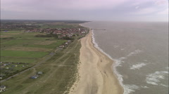 AERIAL United Kingdom-Southwold Stock Footage