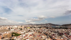 Clouds over the city of Cartagena Stock Footage