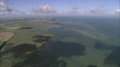AERIAL United Kingdom-North Norfolk Coast Near Wells - stock footage