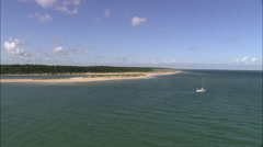 AERIAL United Kingdom-North Norfolk Coast Near Wells Stock Footage