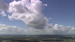 AERIAL United Kingdom-Fenland Landscape Stock Footage