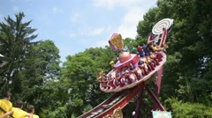 Scary ride at an amusement park Stock Footage