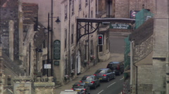 Stock Video Footage of AERIAL United Kingdom-Stamford With 18Th C Coaching Inn