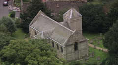 AERIAL United Kingdom-Tickencote Church Stock Footage