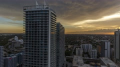 Mammatus clouds rolling over a building in Brickell Miami 4K Timelapse Stock Footage