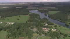 AERIAL United Kingdom-Clumber Park Stock Footage