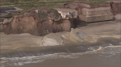 AERIAL United Kingdom-Bull Sand Fort Stock Footage