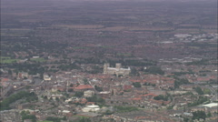 AERIAL United Kingdom-York Minster Stock Footage