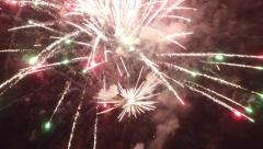 Aerial Drone Fireworks 1 Stock Footage