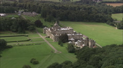 AERIAL United Kingdom-Castle Howard Stock Footage