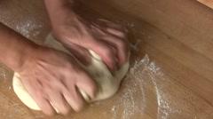 Kneading dough Stock Footage
