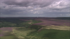 AERIAL United Kingdom-North Yorkshire Moors Stock Footage