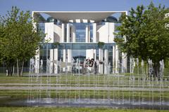 Federal Chancellery Government District Berlin Germany Europe - stock photo