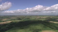 AERIAL United Kingdom-Chesters Roman Fort Stock Footage