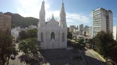 Aerial View of Catedral Metropolitana de Vitoria in Espirito Santo, Brazil Stock Footage