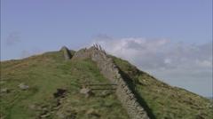AERIAL United Kingdom-Hadrian's Wall Stock Footage