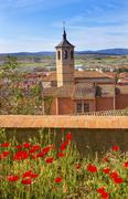 Convent Santa Maria Avila Ancient Medieval City Cityscape Castile Spain Stock Photos