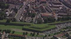 AERIAL United Kingdom-Berwick On Tweed Fortifications Stock Footage
