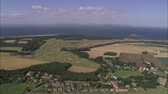 AERIAL United Kingdom-Muirfield Golf Courses Stock Footage