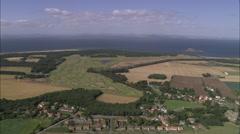 AERIAL United Kingdom-Muirfield Golf Courses Stock Footage