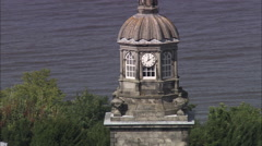 AERIAL United Kingdom-Hopetoun House Stock Footage