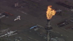 AERIAL United Kingdom-Grangemouth Oil Refinery Stock Footage