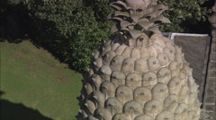 AERIAL United Kingdom-The Pineapple At Dunmore Stock Footage
