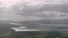 AERIAL United Kingdom-Loch Lomond Stock Footage