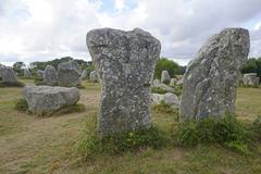 Stock Photo of Menhirs near Erdeven Departement Morbihan Brittany France Europe
