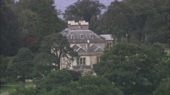 AERIAL United Kingdom-Loch Lomond Golf Club Stock Footage